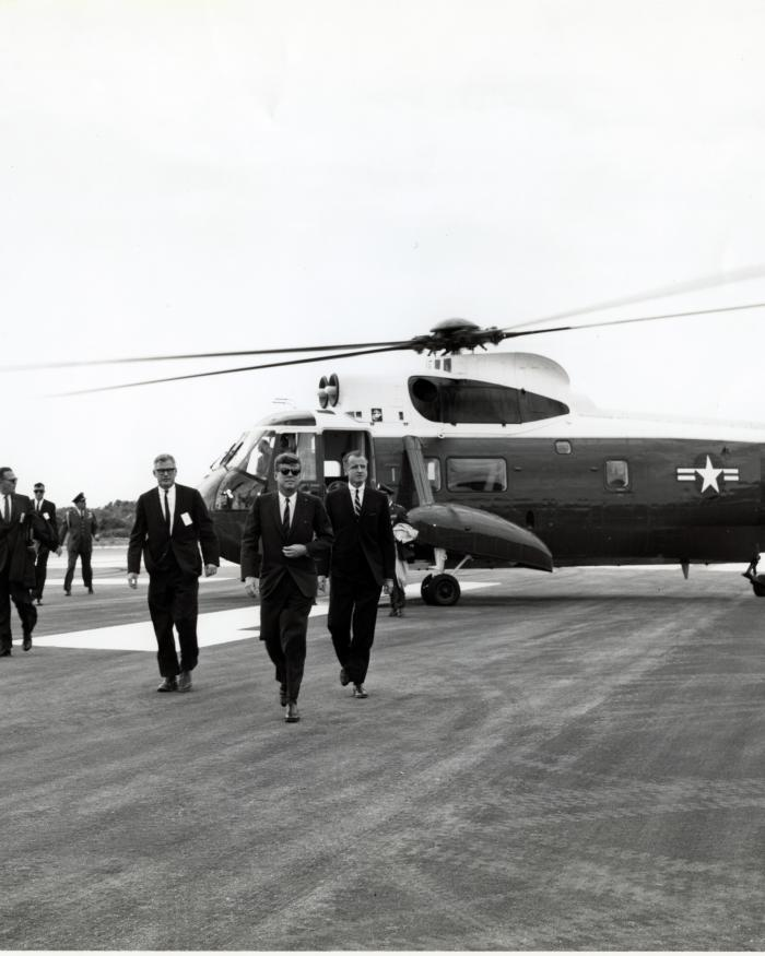 President John F. Kennedy and Sikorsky Helicopter
