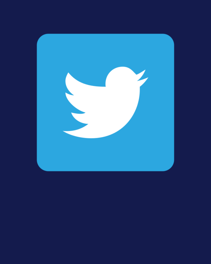 Blue Twitter icon