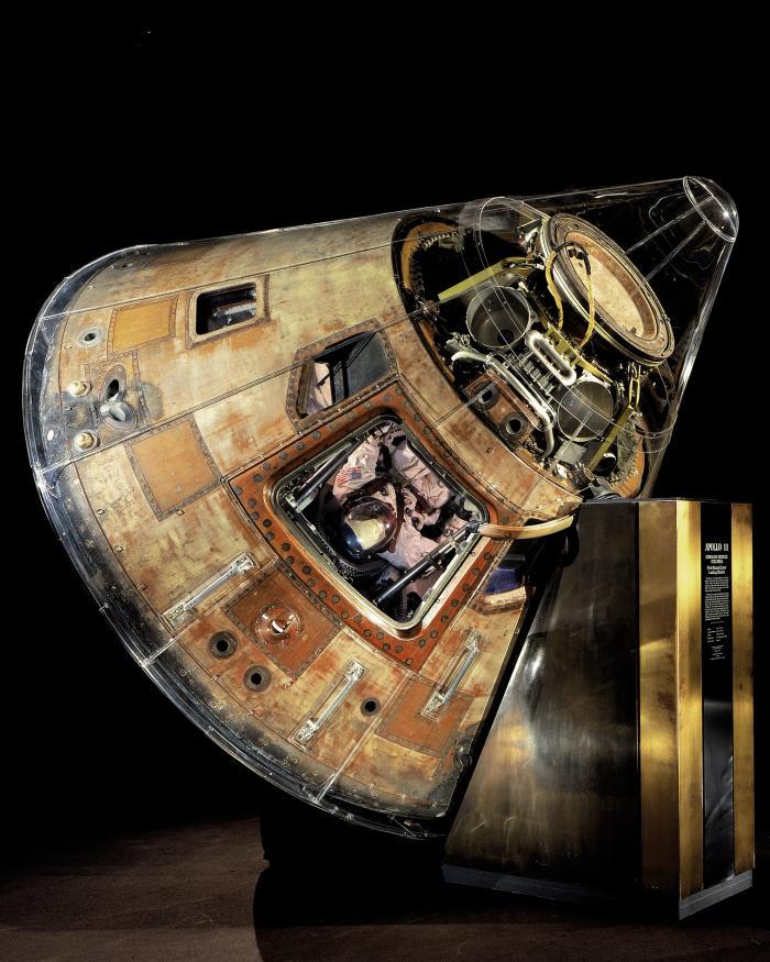 Apollo 11 command module Columbia in the Boeing Milestones of Flight Hall