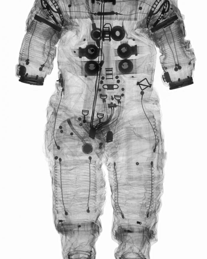 X-ray image of Alan Shepard's Apollo 14 Spacesuit