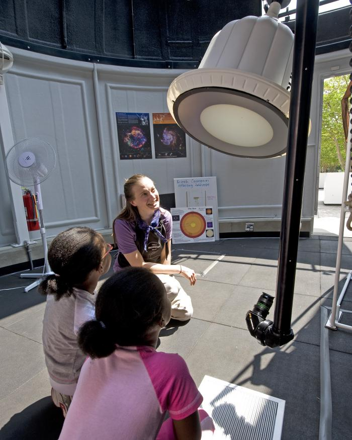 Visitors in the Public Observatory