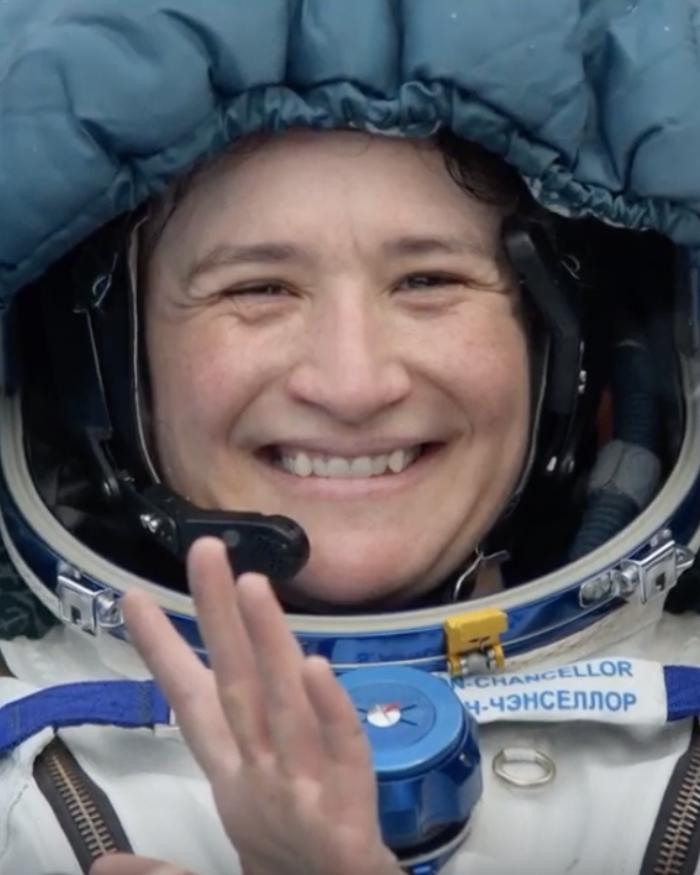 Astronaut returning home