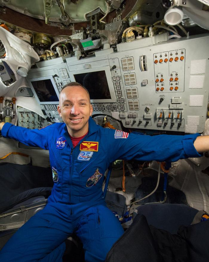 Astronaut in the International Space Station
