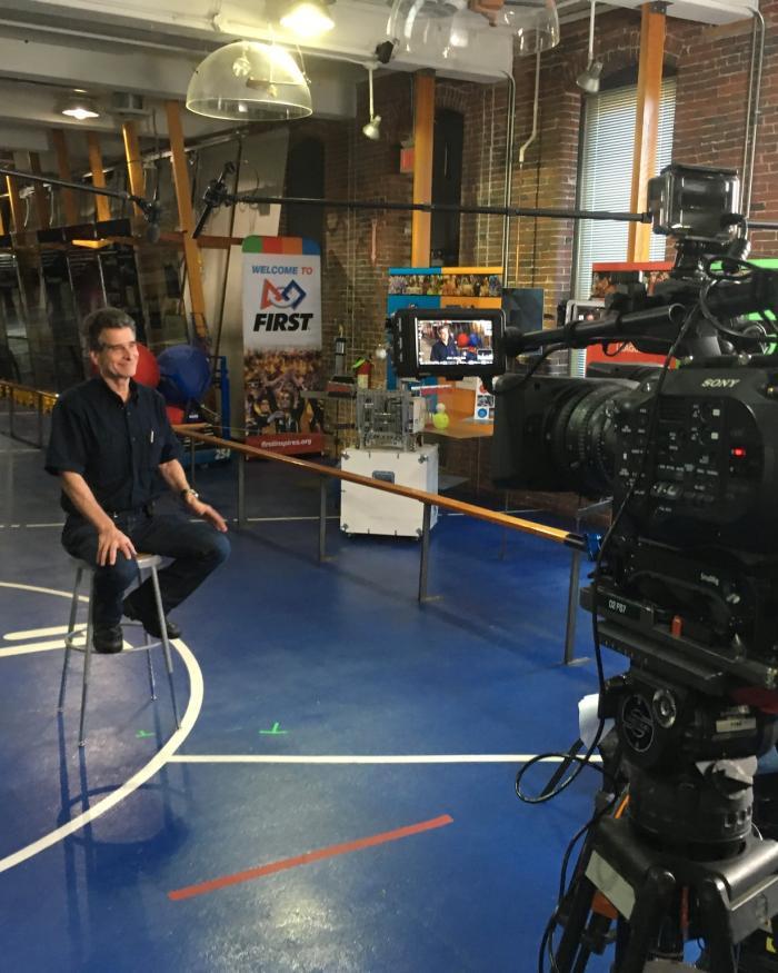 Dean Kamen filming