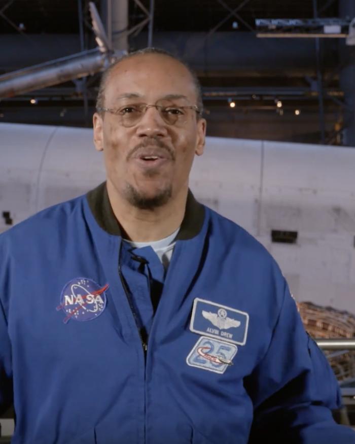 Astronaut Alvin Drew discusses his education and career