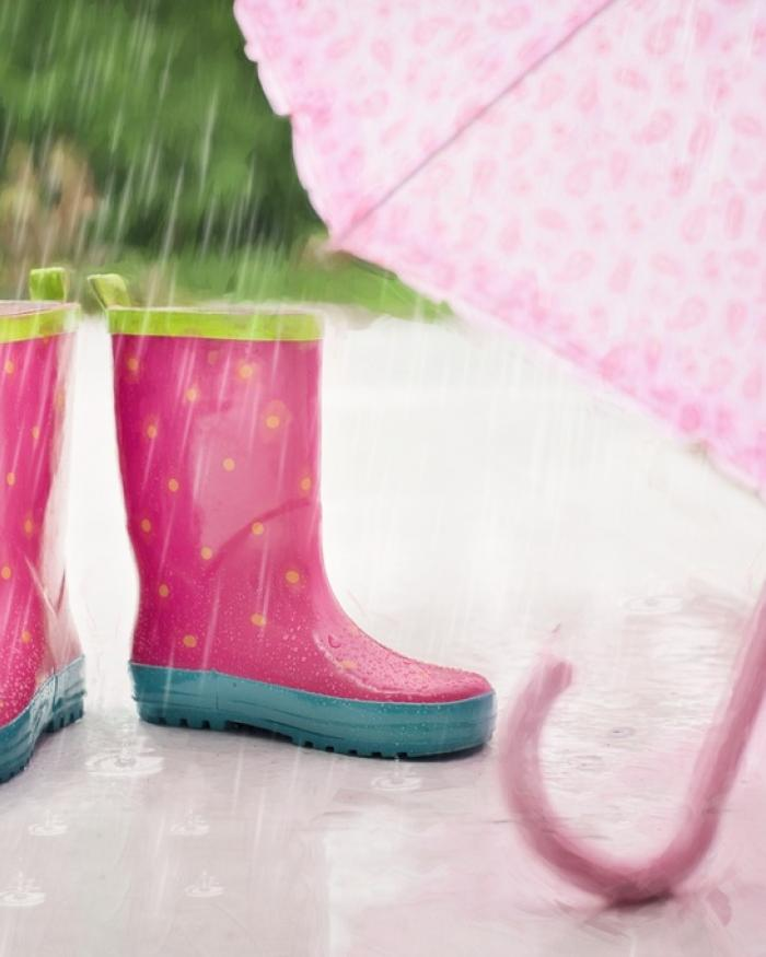 boots in the rain