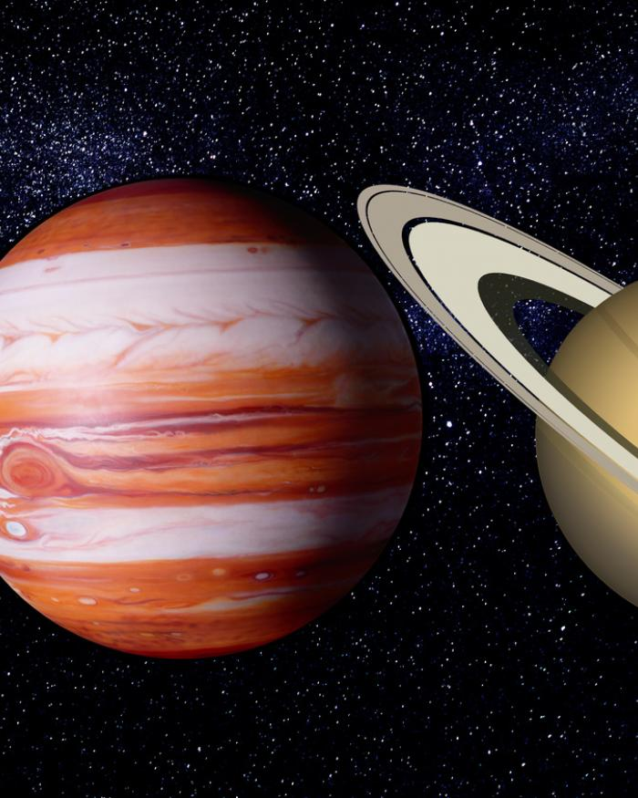 rendering of planets in our solar system by pinkpix
