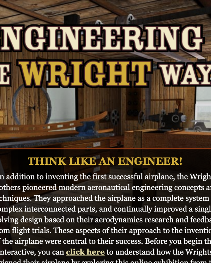 Engineering the Wright Way Interactive
