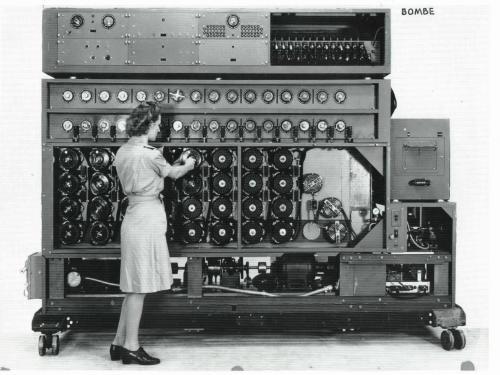 Navy WAVE working on US Navy Cryptanalytic Bombe