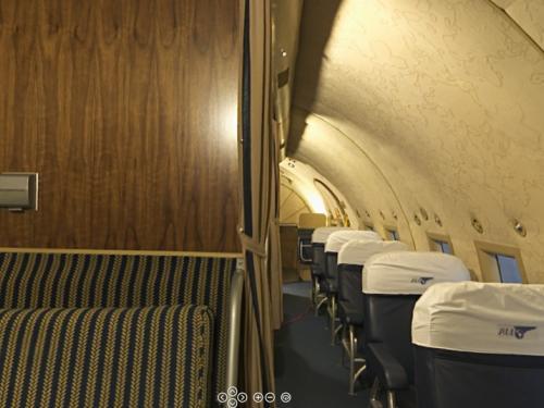 Panoramic photograph of Boeing 307 Stratoliner Passenger Cabin