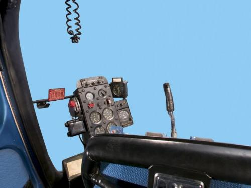 Panoramic image of Bell H-13J Cockpit