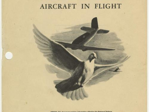 "The cover of a manual entitled ""Handling and Releasing Homing Pigeons from Aircraft"""