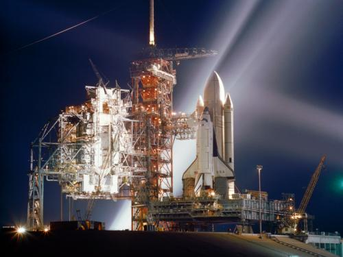 Columbia Space Shuttle on launch pad