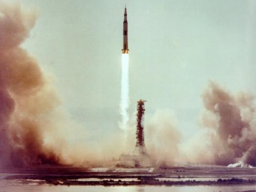 Apollo 11 Clears the Launch Tower