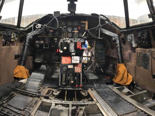 Flak-Bait Cockpit After Fabric Conservation