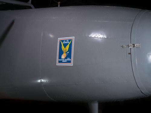 Close up image of an Air Express logo.