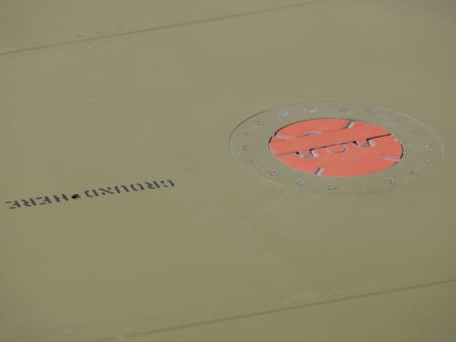 Painted on a green plane is ground here.