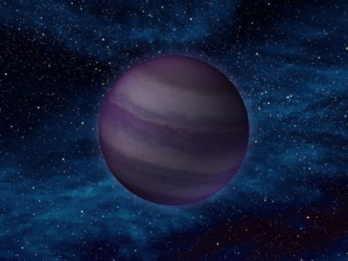 Artist rendering of a planet.