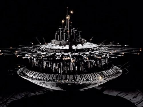 Mother Ship Model - Close Encounters of the Third Kind at Udvar-Hazy Ctr