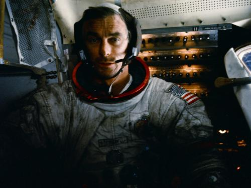 Gene Cernan in Flight during the Apollo 17 Mission