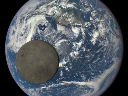 Deep Space Climate Observatory - Moon Crossing