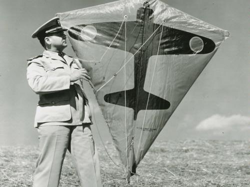 Paul E. Garber with Target Kite