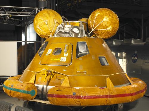 Apollo 11 Water Recovery Display (flotation collar and bags)