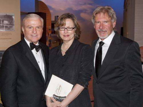 Kenneth and Madge Gazzola with Harrison Ford