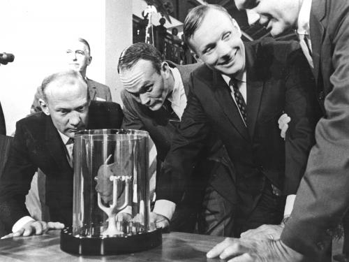 Moon Rock Presented to Smithsonian by Apollo 11 Crew