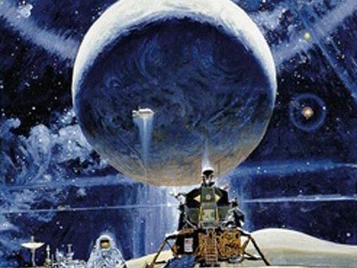 A study for Robert T. McCall's The Space Mural: A Cosmic View in the South