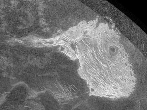View of Venus from Earth: Radar Image of Maxwell Montes