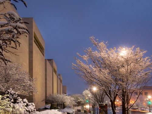 National Air and Space Museum during Snowmageddon