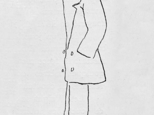 Caricature of Orville Wright