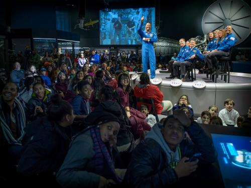 Astonaut Class Live Downlink to ISS in Moving Beyond Earth