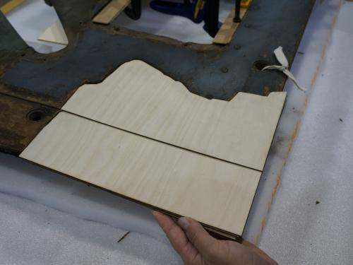 Fifth Layer of Plywood Fill