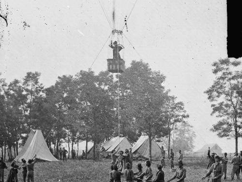Thaddeus Lowe Balloon Reconnaissance at Battle of Fair Oaks