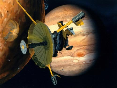 Galileo: Artist's Rendition of Io Encounter.