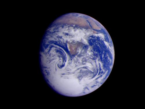 Earth from Galileo Spacecraft