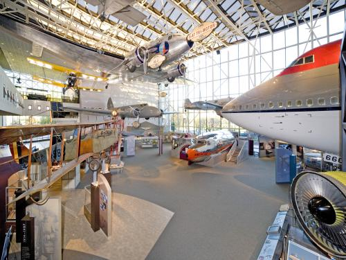 You can see the nose of one airplane with several other in the background in the America by Air gallery.
