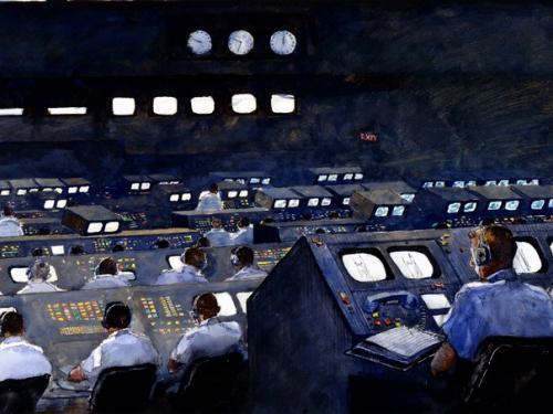 "Firing Room, Apollo 11 by ""Jamie"" Wyeth"
