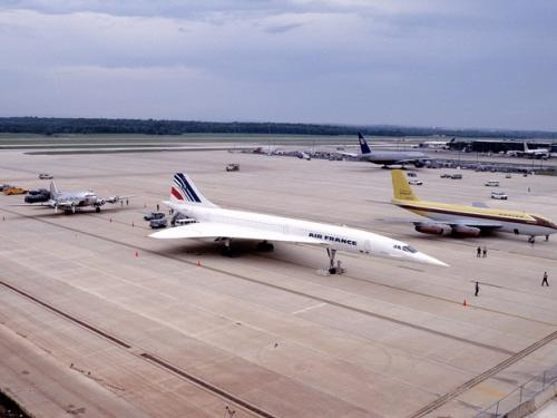 Boeing Stratoliner,  Dash 80, and Air France Concorde