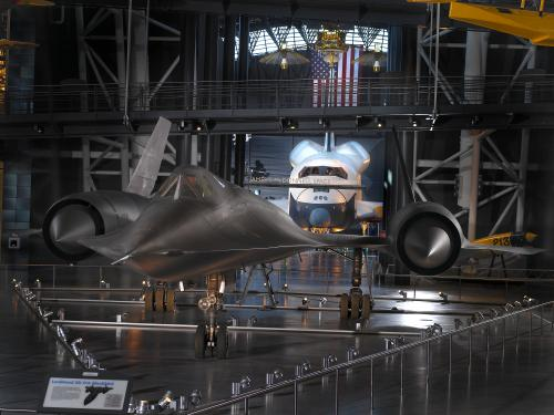 Lockheed SR-71 and Space Shuttle Enterprise at the Udvar-Hazy Center