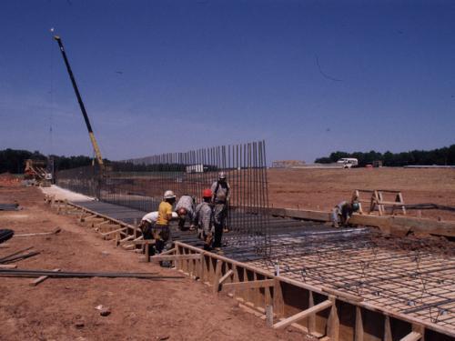 Rebar for Udvar-Hazy Center East Retaining Wall