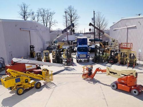Moving equipment at Garber Restoration Facility