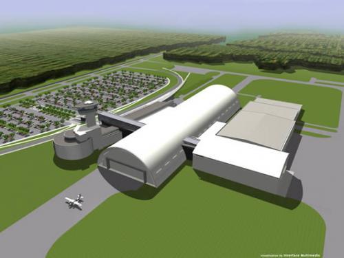 Architect's Concept of the Udvar-Hazy Center