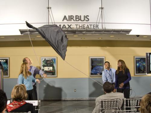 Unveiling of the Airbus Imax Theater