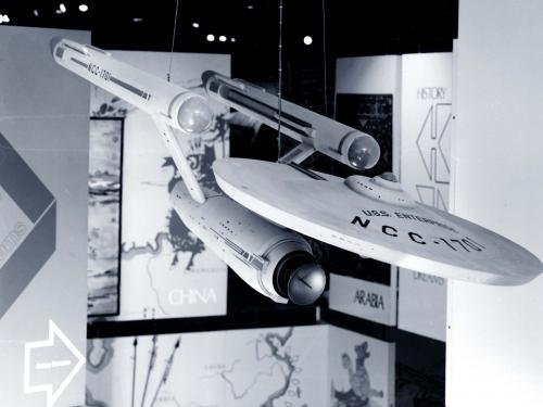 "Star Trek Starship ""Enterprise"" on display in Rocketry and Spaceflight"