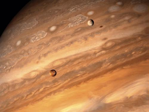 Jupiter and Two of its Moons