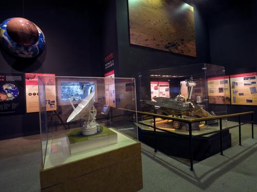 """Mars Exhibit Inside the """"Exploring the Planets"""" Gallery"""