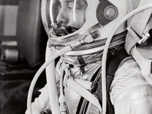 Alan Shepard in Spacesuit before Mercury Launch